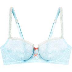 Heidi Klum Intimates Mon Coeur Underwire Bra ($22) ❤ liked on Polyvore featuring intimates, bras, lingerie, multi, lace lingerie, lacy lingerie, lingerie bras, stretch lace lingerie and stretch lace bra