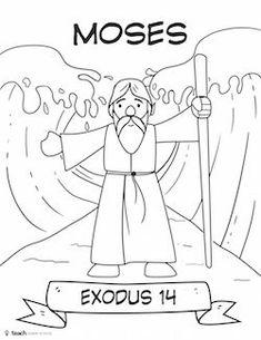 bible heroes cut and color craft pack bible coloringpage moses cccpinehurstcm moses red seabible