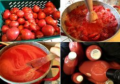 Paradicsom befőzés gyorsan! - www.kiskegyed.hu Ketchup, Canning, Vegetables, Recipes, Automata, Food, Diy, Bricolage, Home Canning