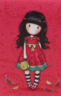 Gorjuss Santoro London, Painting Wallpaper, Free Machine Embroidery Designs, Illustration Girl, Cute Cartoon Wallpapers, Cute Images, Print Pictures, Stone Painting, Cartoon Drawings