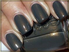 """Essie Armed and Ready (Spring 2012 Go Overboard Collection) by Nails and Noms ... """"olive green creme filled with very fine gold and pink shimmer."""""""