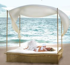 Outstanding Romantic Outdoor Beds With Canopy Designs Ideas With Heavenly Sketch: Wonderful Romantic Outdoor Beds With Canopy Designs Ideas1 As Amusing Design Type Idea ~ last-times.com Furniture Inspiration