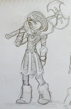 Drawing of Astrid from How to train your Dragon. By Yenthe Joline.