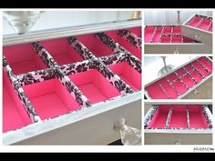 ▶ DIY Makeup Drawer Organizers - YouTube