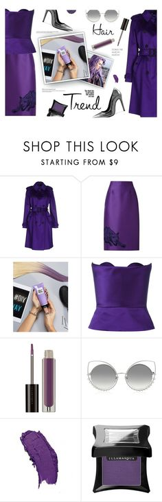 """""""Hair Trend: Matchy-Matchy"""" by maddophelia ❤ liked on Polyvore featuring Blumarine, STELLA McCARTNEY, L'Oréal Paris, Delpozo, Marc Jacobs, hairtrend, purple and nostalgia"""