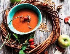 sopa de lenteja roja con tomate-MioMat www.miomat.cl Vegan Style, Vegan Fashion, Random, Lentil Soup