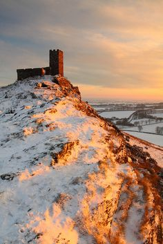 Touched by the light, Brentor Church, Dartmoor, Devon, England