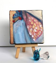 Miniature Abstract Painting Modern Art by kerriblackmanfineart, $25.00