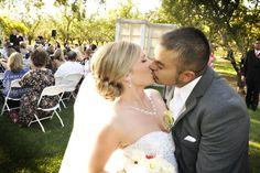 Bride and Groom kiss :)