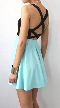 Criss cross back dress