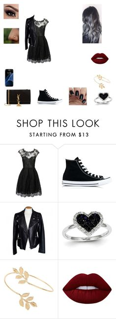 """Untitled #64"" by juliab3638 on Polyvore featuring Converse, Alexander McQueen, Kevin Jewelers, Miss Selfridge, Lime Crime, Yves Saint Laurent and Samsung"