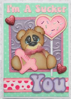 Card Kit - I'm a Sucker 4 You - created by Barbara -  PAPER PIECING MEMORIES BY BABS