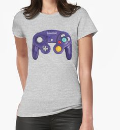 """Vintage Gamecube Gamepad V01"" Womens Fitted T-Shirts by Lidra 