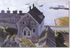 Edward Hopper - Gloucester Factory And Houses 1924 -