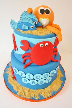 Baby Shower Cakes New Jersey - Under the Sea Custom Cakes