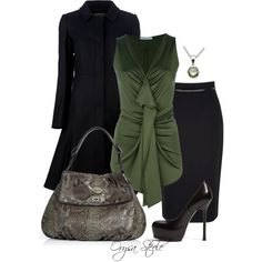 """""""Green with Envy"""" by orysa on Polyvore"""