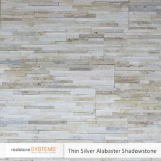Thin Silver Alabaster or Birch, Thinstone Veneers from Realstone Systems-fireplace