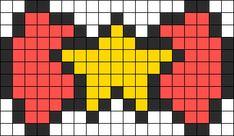 Kandi Patterns for Kandi Cuffs - Simple Pony Bead Patterns Perler Bead Designs, Perler Bead Templates, Pixel Art Templates, Perler Bead Art, Fuse Bead Patterns, Kandi Patterns, Perler Patterns, Beading Patterns, Pixel Crochet Blanket