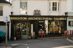 """I bought a """"treasure"""" here in Brighton, Gloucester Road. Brighton Rock, Brighton England, Brighton And Hove, Gloucester Road, Architectural Salvage, Store Fronts, Places To Go, Tea Houses, Europe"""