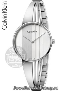 The Calvin Klein drift watch features a stainless steel case with a polished stainless steel strap. Its dial is silver-tone and covered with a mineral crystal. This quartz watch has a jewelry clasp and is water-resistant to 30 meters. Ck Calvin Klein, Calvin Klein Watch, Stainless Steel Case, Quartz Watch, Michael Kors Watch, Bracelet Watch, Tic Tac, Women's Watches, Product Design