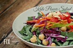 A Hint of Ginger   Kale Power Salad   21 Day Fix Kale Power Salad, 21 Day Fix, Potato Salad, Potatoes, Ethnic Recipes, Blog, Potato, Blogging