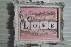 Framed Valentines picture
