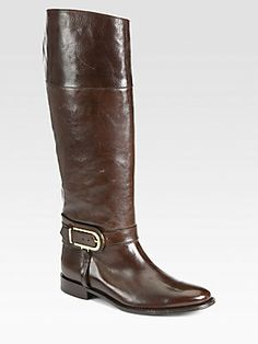 Burberry Winton Leather Riding Boots 358