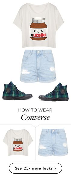 """""""Nutella is Bae"""" by lyddymckchikn on Polyvore featuring Topshop and Converse"""