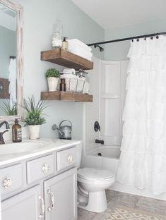 110 spectacular farmhouse bathroom decor ideas (24) #countrybathrooms