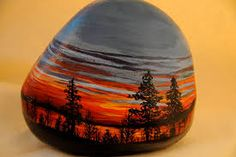 Image result for painted landscape pebbles