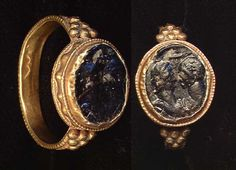 ROMAN GOLD RING IIIIV c AD antique vintage treasures