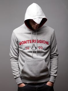 Awesome 'Monteriggioni' hoodies inspired by the video game Assassins Creed: Brotherhood.