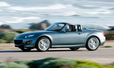 2012 Mazda MX-5 Miata    With its well-sorted chassis, communicative suspension and solid construction, the 2012 Mazda MX-5 Miata PRHT roadster is a riot to drive.   Photo by Mazda.