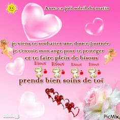 French Language Lessons, Morning Greetings Quotes, Love Images, Good Morning, Improve Yourself, Messages, Minions, Party, Yellow