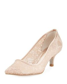 9d1c37d01f3e Shop Lois Lace Kitten Pump from Adrianna Papell at Neiman Marcus Last Call
