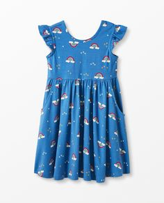 Ruffle Sleeve, Flutter Sleeve, Ruffle Dress, Dress Outfits, Kids Outfits, Matching Family Pajamas, Best Summer Dresses, Flowing Dresses, Hanna Andersson