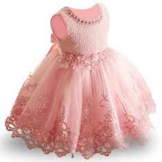 2018 New Lace Baby Girl Dress 1 Years Baby Girls Birthday Dresses Vestido birthday party princess dress Girls Baptism Dress, Baby Girl Birthday Dress, Baby Girl Christening, Girls Party Dress, Birthday Dresses, Baby Girl Dresses, Prom Party Dresses, Girl Outfits, Flower Girl Dresses