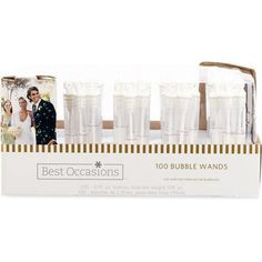 Wilton Ring Bubble Wand Favors, 100 Count only $15