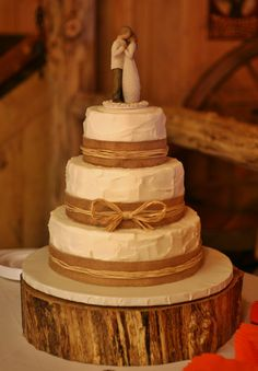 hessian ribbon for wedding cake 3 tier rustic buttercream wedding cake with burlap and 15211