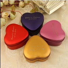 FREE SHIPPING:  Tin Heart Favor Holders - 24 Ct. As Low As $40.95 These Make Super Cute Favor Holders