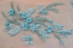 Multicolor Flower Bridal Lace Applique Embroidery Motif Sew on Wedding Dress Embroidery On Clothes, Embroidery Dress, Beaded Embroidery, Beaded Lace, Beaded Flowers, Hand Embroidery Patterns, Embroidery Designs, Embroidery Applique, Machine Embroidery
