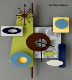 Unique wall clock ideasModern Home Interior Design.... this is cool but