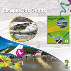 #Brasil2014 || Conoce el Estadio Das Dunas  + Poster + Ciudad + Partidos que albergará  >>http://goo.gl/LPXM0x