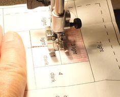 Needles 'n' Knowledge: Paper Piecing Basics: Log Cabin Practice Block