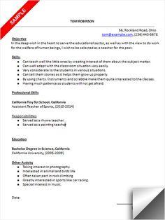 kindergarten teacher resume sample - Preschool Teacher Resume