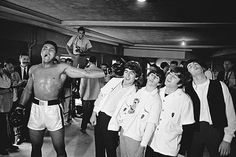 Ali shares a laugh and a joke when he meets The Beatles - his charisma made him stand out from the crowd