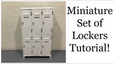 Hope you like this miniature set of lockers tutorial! Materials: Glue: UHU HART special glue for model-building & super glue on the hinges Wood: Balsa wo. Dollhouse Miniature Tutorials, Miniature Crafts, Miniature Dolls, Modern Dollhouse, Diy Dollhouse, Dollhouse Miniatures, Miniature Furniture, Dollhouse Furniture, Miniature Youtube