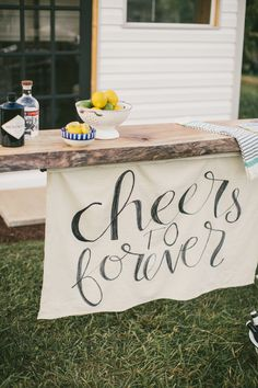 cheers to forever wedding banner