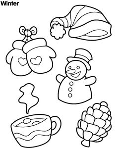 wonderful winter coloring pages