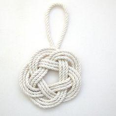 Nautical Christmas Ornament Sailor Knot Turks by MysticKnotwork